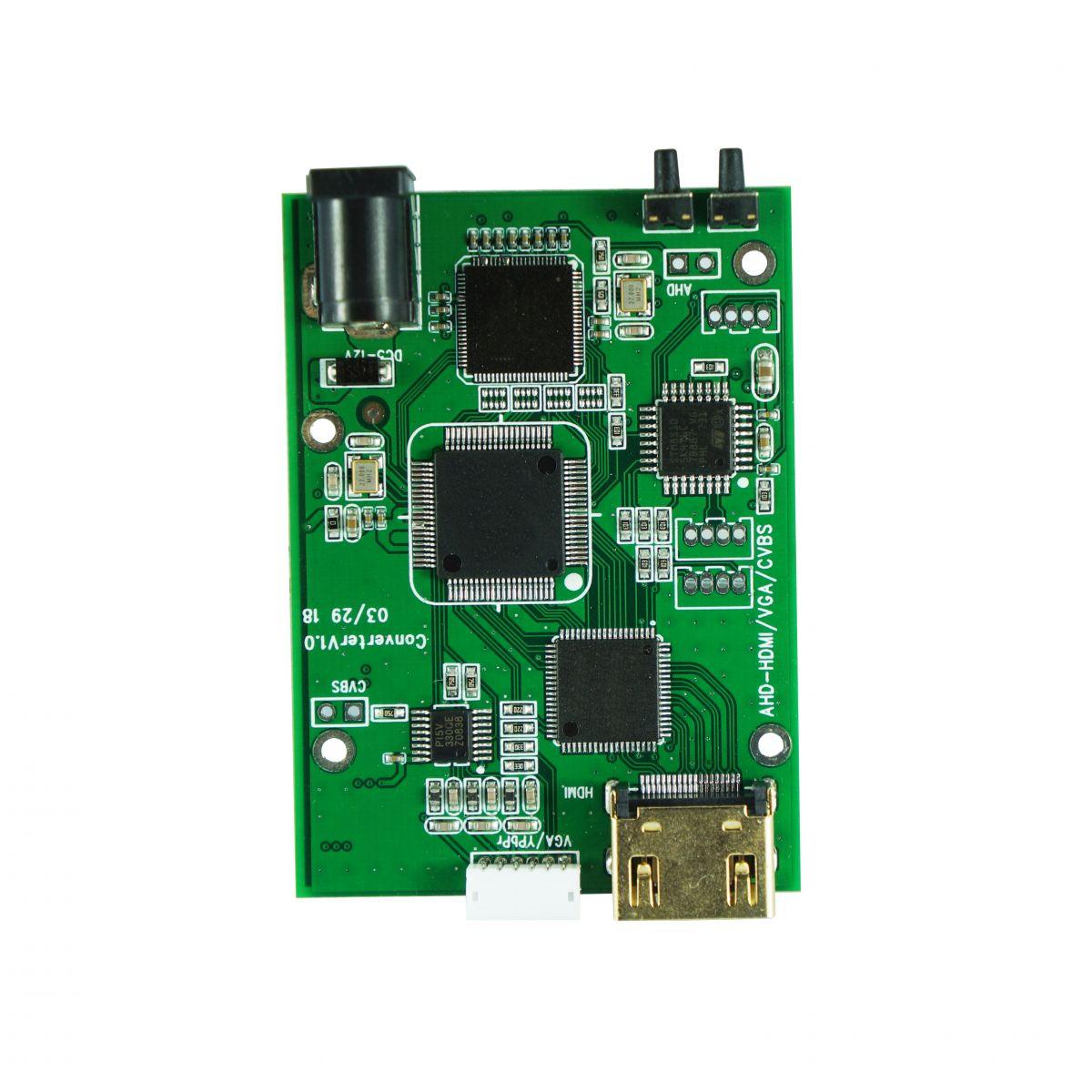 4 in 1 HD Video Signal Convertor AHD//TVI//CVI//CVBS Signal to HDMI//VGA//CVBS Signal